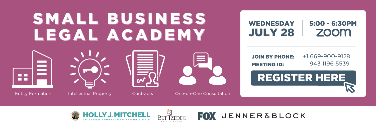 Small Business Legal Academy Banner